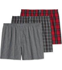 jockey men's 3-pk. woven boxers