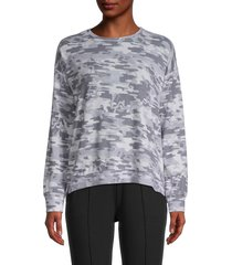workshop women's dropped-shoulder camo sweatshirt - grey multi - size xl