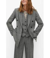 mango women's belt suit blazer