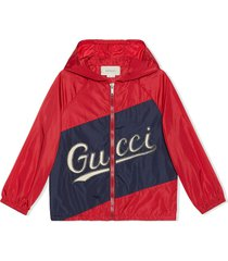gucci nylon jacket with gucci script