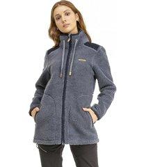 chaqueta valley sherpa azul grisaceo lippi