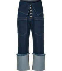 marques'almeida 'fisherman' jeans - blue