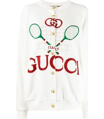 gucci reversible gucci tennis jacket - white