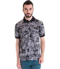 camisa polo masculina manga curta 33605 cinza claro