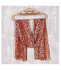 wool shawl, 'cheetah elegance' (india)