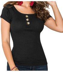 blusa belinda negro para mujer croydon