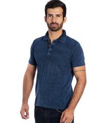 camisa tricot polo y le tisserand azul stone