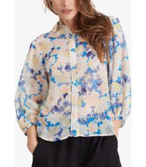 sanctuary hillside printed button front top