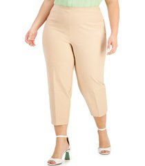 alfani plus size high-waist cropped pants, created for macy's