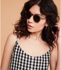 loft izipizi d sunglasses in tortoiseshell brown