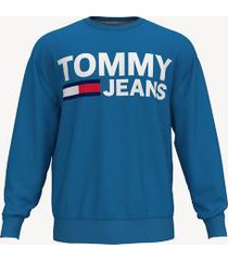 tommy hilfiger men's bold logo sweatshirt french blue - s