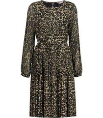 geisha 07907-20 dress leopard plisse