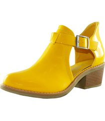 zapato abierto charol yellow danicolle