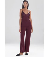 jersey essentials silk cami, lingerie, women's, red, size s, josie natori