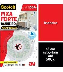 fita adesiva dupla face scotch 3m com espuma banheiro 24mmx1m