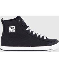 zapatilla  s astico mid lace sneakers  negro diesel