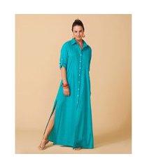 camisão feminino -camisão penelope cor: turquesa - tamanho: p