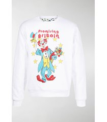 martine rose reversible clown and flowers illustrated sweatshirt