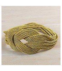 rope belt, 'dorado braids' (peru)