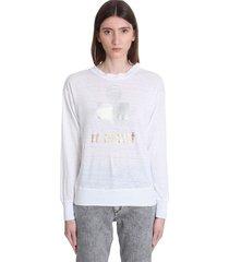 isabel marant étoile klowia t-shirt in white linen