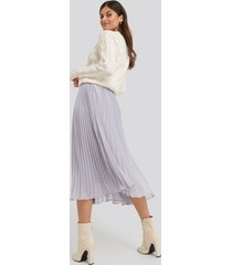 na-kd trend ankle length pleated skirt - purple