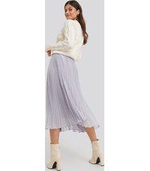 na-kd trend ankle length pleated skirt - purple