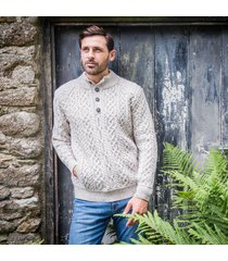 the kilkee aran sweater beige xl