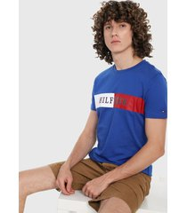 camiseta azul royal-blanco-rojo tommy hilfiger