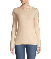 cutout long-sleeve sweater