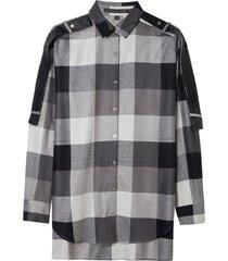 camisa john john maxi bufalo xadrez feminina (xadrez, gg)