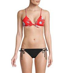 casper tie-front triangle bikini top