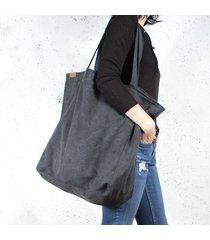 big lazy bag torba czarna na zamek / vegan / eco