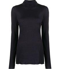 roberto collina slim-fit roll neck sweatshirt - blue