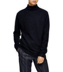 men's topman harlow side zip funnel neck sweater