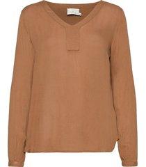 amber l/s blouse- min 2 blus långärmad brun kaffe