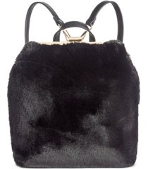 inc binxxe faux-fur frame convertible backpack, created for macy's