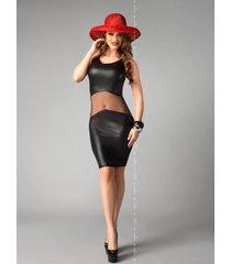 * me seduce jurk coco-zwart (2xl/3xl)
