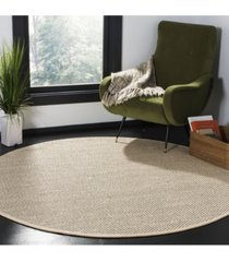 safavieh natural fiber black and ivory 6' x 6' sisal weave round area rug