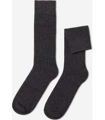 calzedonia short ribbed socks with wool and cashmere man grey size 44-45