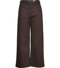 knox trouser wijde broek bruin hope