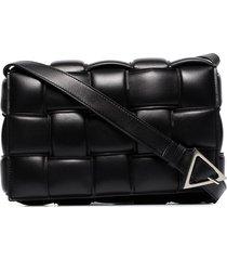 bottega veneta padded cassette crossbody bag - black