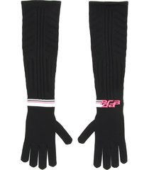 prada techno nylon long gloves