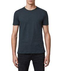 men's allsaints slim fit crewneck t-shirt, size xx-large - blue
