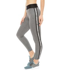 legging everlast long ray gris - calce ajustado