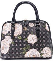giani bernini floral signature dome satchel, created for macy's