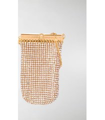 versace gold-tone crystal pouch bag