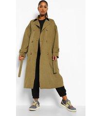 zwangerschap klassieke trench coat, khaki