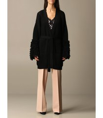 blumarine cardigan cardigan with wide sleeves belt