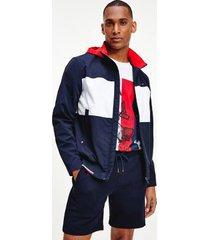 tommy hilfiger men's colorblock regatta bomber jacket navy - xs