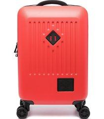 herschel supply co. four-wheel zip-around suitcase - red